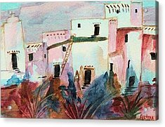 Acrylic Print featuring the painting New Mexico Sunset by Alethea McKee