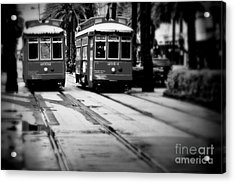 New Orleans Classic Streetcars. Acrylic Print by Perry Webster