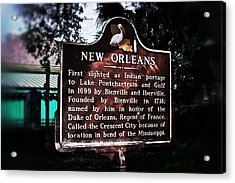Acrylic Print featuring the photograph New Orleans History Marker by Jim Albritton