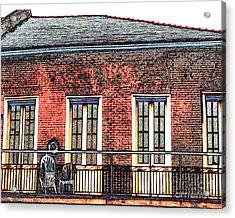 New Orleans Plantation House Acrylic Print by Merton Allen
