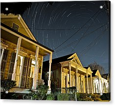 Acrylic Print featuring the photograph New Orleans Star Trails by Ray Devlin
