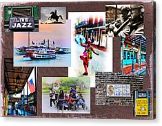 New Orleans The Birthplace Of Jazz Acrylic Print by Bill Cannon