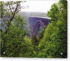 New River Gorge Bridge Acrylic Print by Leroy McLaughlin