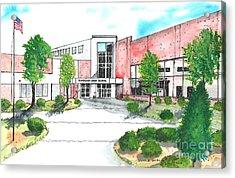 New Riverside High School Acrylic Print