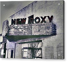 Acrylic Print featuring the photograph New Roxy Clarksdale Ms by Lizi Beard-Ward