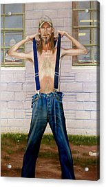 New Suspenders Acrylic Print by GPaul Lucas