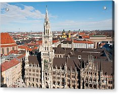 Acrylic Print featuring the photograph New Town Hall by Andrew  Michael