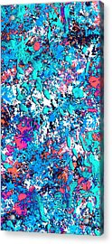New Wave Dimension  Acrylic Print by Charles Yates