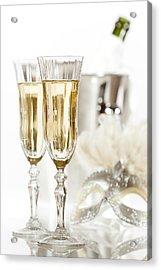 New Year Champagne Acrylic Print by Amanda Elwell