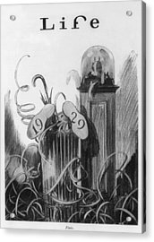 New Years Cartoon Related To The 1929 Acrylic Print by Everett