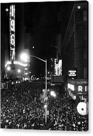New Years Eve Celebration In Times Acrylic Print by Everett