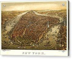 New York 1873 Acrylic Print by Donna Leach