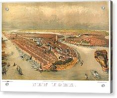 New York 1874 Acrylic Print by Donna Leach