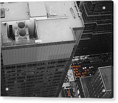 New York Cabs Acrylic Print by Naxart Studio