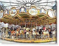 Acrylic Print featuring the photograph New York Carousel by Alice Gipson