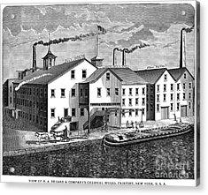 New York: Chemical Works Acrylic Print by Granger