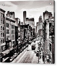 New York City - Above Chinatown Acrylic Print by Vivienne Gucwa