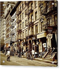 New York City - Back In Time Acrylic Print by Vivienne Gucwa