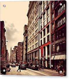 New York City - Cloudy Day On Broadway Acrylic Print
