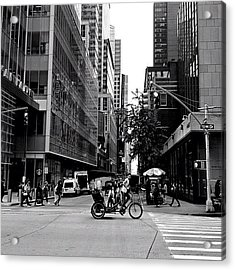 New York City Flow Of Life Acrylic Print by Vivienne Gucwa