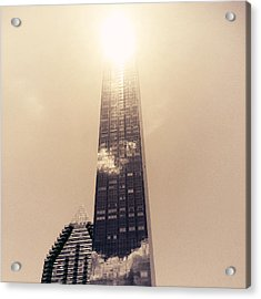 New York City Glimmers And Reflections Acrylic Print by Vivienne Gucwa