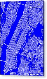 New York City Map Streets Art Print   Acrylic Print