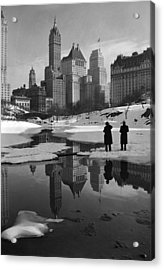 New York City, Plaza Buildings Acrylic Print by Everett