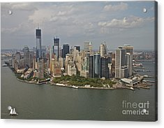 New York City Sky Line Acrylic Print by Linda Asparro