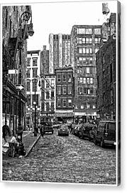 New York City Street Scene Acrylic Print by Scott Massey