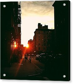 New York City Sunset Acrylic Print by Vivienne Gucwa