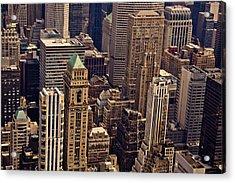 New York City Urban Landscape Acrylic Print by Vivienne Gucwa