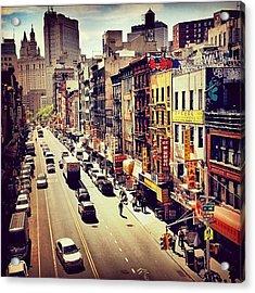 New York City's Chinatown Acrylic Print by Vivienne Gucwa