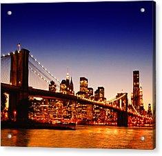New York Cityscape Acrylic Print by ©jesuscm