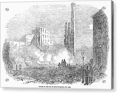 New York: Fire, 1853 Acrylic Print by Granger