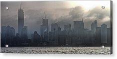New York Fog Acrylic Print by Farol Tomson