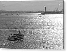 New York Harbor Acrylic Print by Christian Heeb