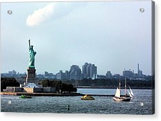 New York Harbor Acrylic Print by Kristin Elmquist