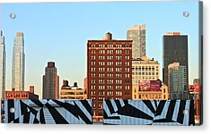 New-york Landmarks Acrylic Print by Jordan Drapeau