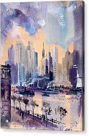 New York Acrylic Print by Odon Czintos