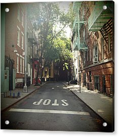 New York On Idealic Street Acrylic Print
