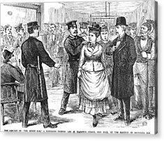 New York Police Raid, 1875 Acrylic Print by Granger