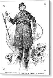 New York Policeman, 1890 Acrylic Print by Granger