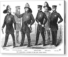 New York Policemen, 1854 Acrylic Print by Granger