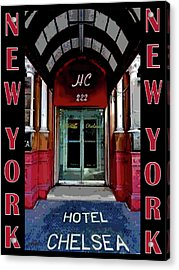 Acrylic Print featuring the painting New York Poster by Jann Paxton