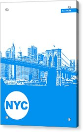 New York Poster Acrylic Print by Naxart Studio