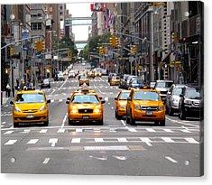 New York Ride Acrylic Print by Anthony Chia-bradley
