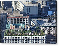 Acrylic Print featuring the photograph New York Roof Garden by David Grant