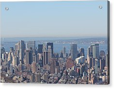 Acrylic Print featuring the photograph New York Skyline by David Grant