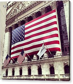 New York Stock Exchange/wall Street Acrylic Print