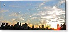 New York Sunset 2 Acrylic Print by Randi Shenkman
